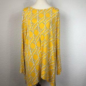 Chico's Zenergy Yellow Print Tunic